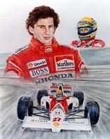 Senna - The Master. Artwork by Alan Willis... coming soon  Valentino Rossi, 'Yamaha Part One'